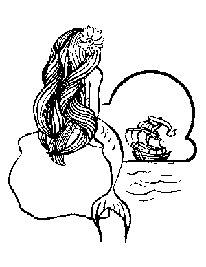 Waiting Mermaid Coloring Page Coloring Page Mermaid Coloring Pages Mermaid Tattoos Mermaid Coloring
