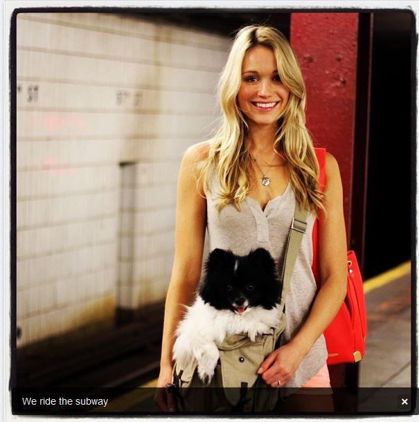 Katrina Bowden and her pup!
