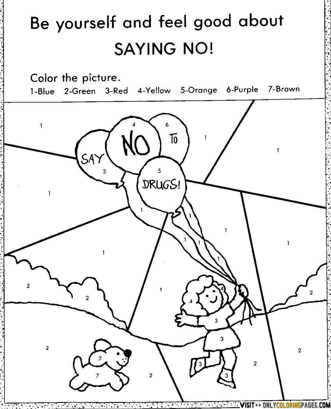 Red Ribbon Week Coloring Pages free  Only Coloring Pages  Red