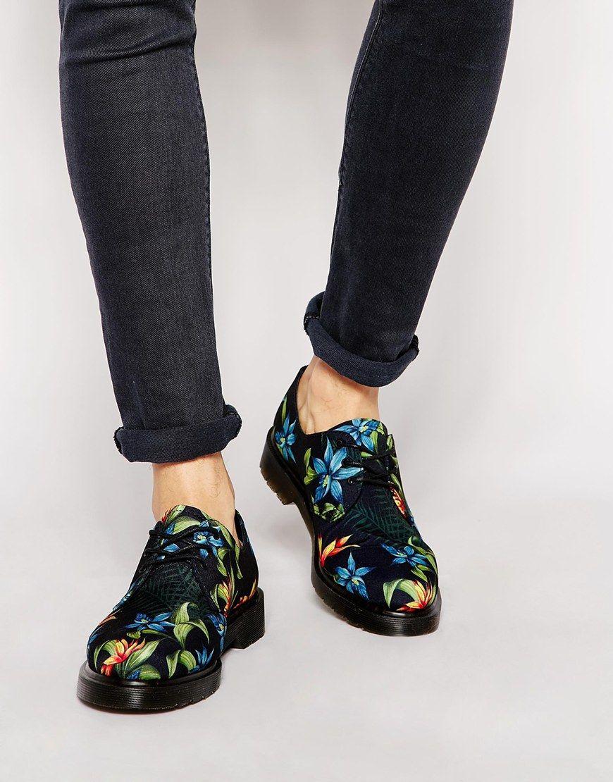 Dr Martens Hawaiian Print Lester Shoes