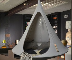 Carve Out A Private Sanctuary Anywhere In Your Home Using This Hanging  Cocoon Hammock Chair. The Chair Hangs From A Heavy Duty Anodized Aluminum  Ring And ...