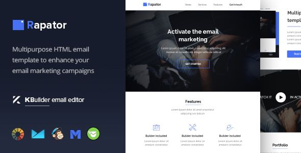 Rapator Multipurpose Email Template Builder Campaign - Export mailchimp template
