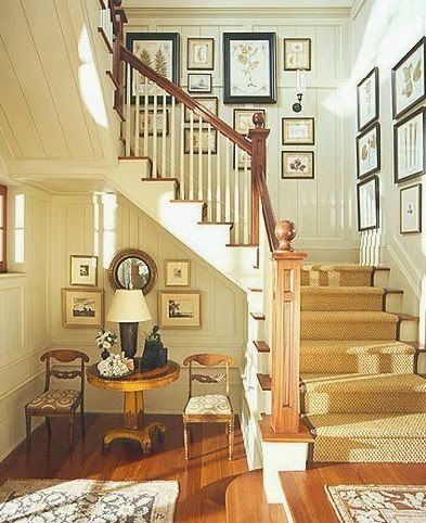 Old Fashioned Stairway Wall Decorating Ideas Pattern - Wall Art ...
