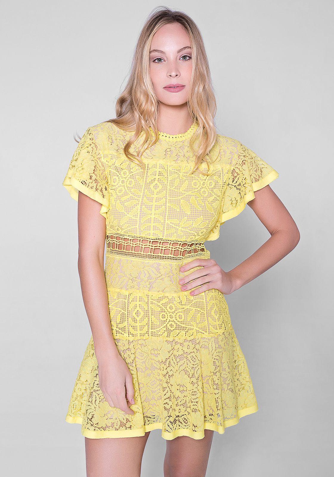 Ver vestidos de renda amarelo