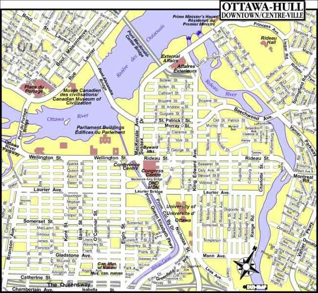 City Map Ottawa Canada cool Map Of Ottawa Canada | Ottawa canada, Ontario map, Canada map