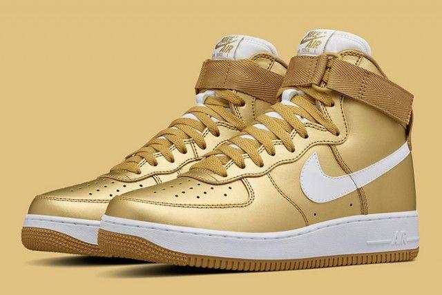 gold-nike-air-force-1 | Nike gold