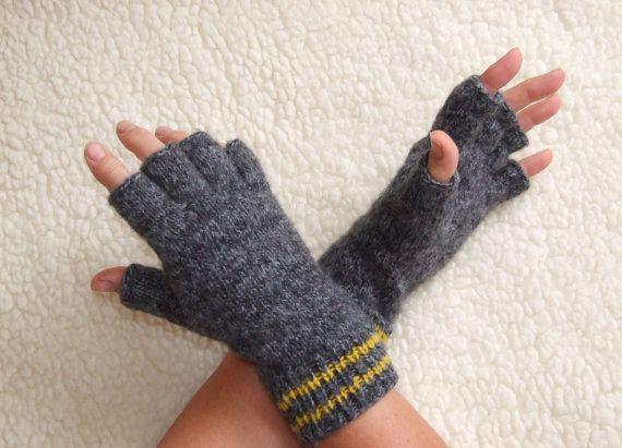 Mens Fingerless Gloves Half Finger Gloves Knit Gloves Fingerless