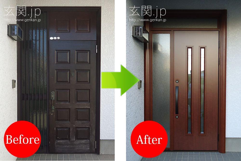 完璧なドア交換工事に大満足 画像あり 玄関 リフォーム 玄関
