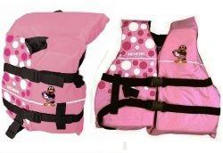 girls polka dot penguin life jackets