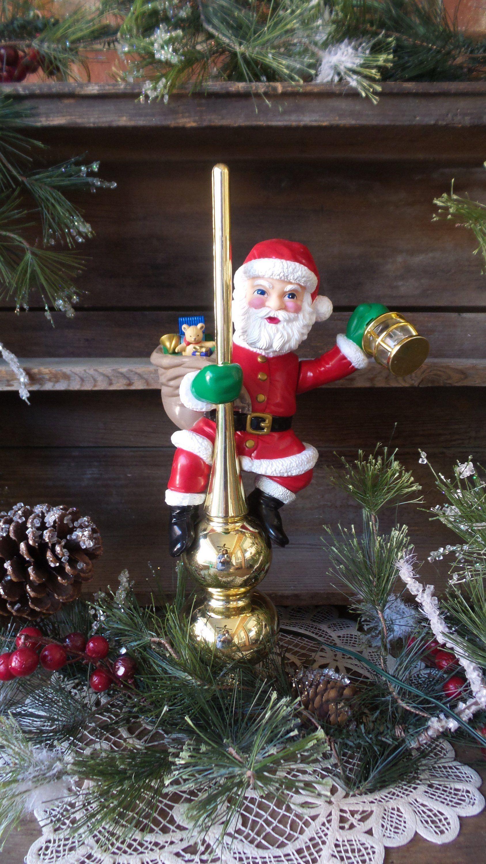 Mr Christmas Santas Lighted Animated Tree Top Christmas Tree Topper Vintage Animated Santa Vintage Christmas Decorations Christmas Tree Toppers Mr Christmas
