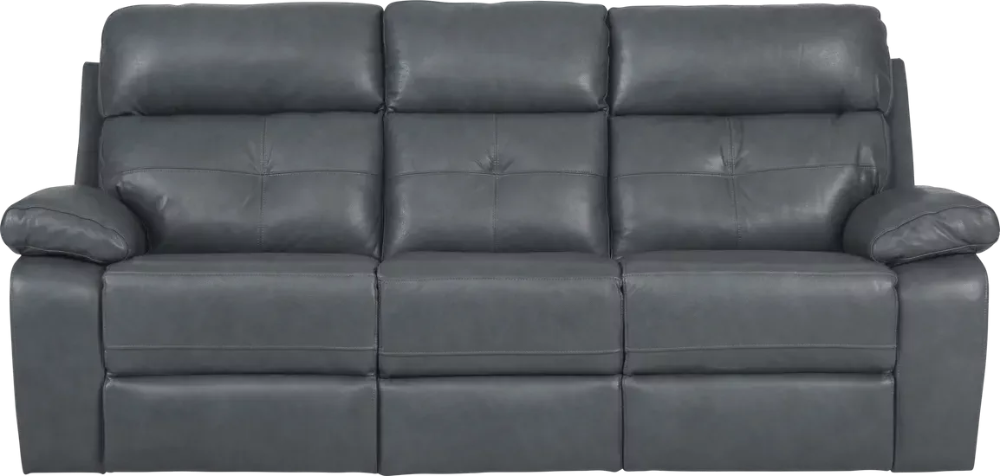 Cepano Blue Leather Reclining Sofa Leather Reclining Sofa Sofa Reclining Sofa