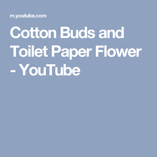 Cotton buds and toilet paper flower youtube christmas this video shows that cotton buds and toilet papers are not only used for cleaning they can also be used as decoration materials that cost friendly always mightylinksfo