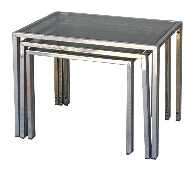 srie de tables gigognes vintage 1970 style jansen 65000 - Table Gigogne Vintage