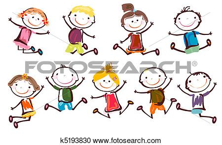 Jumping Kids Clipart With Images Drawing For Kids Clip Art