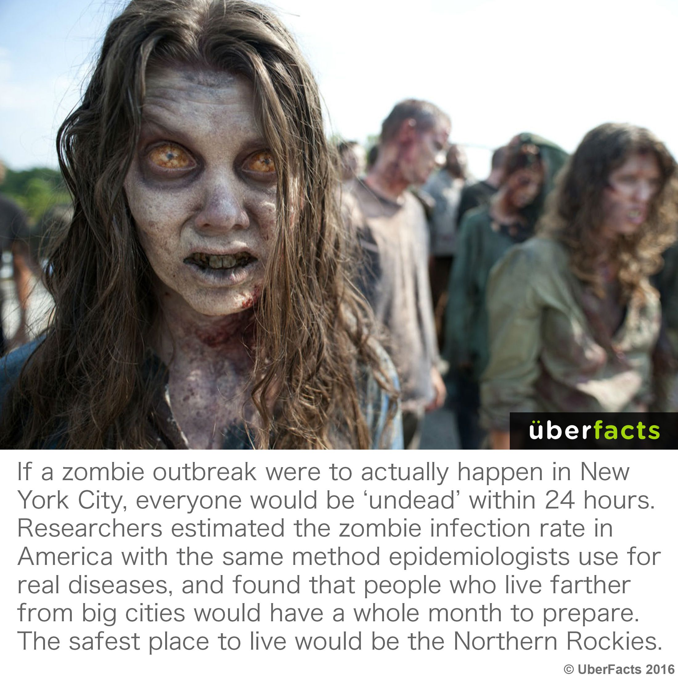 If The Zombie Apocalypse Happens Scientists Say You Should Head