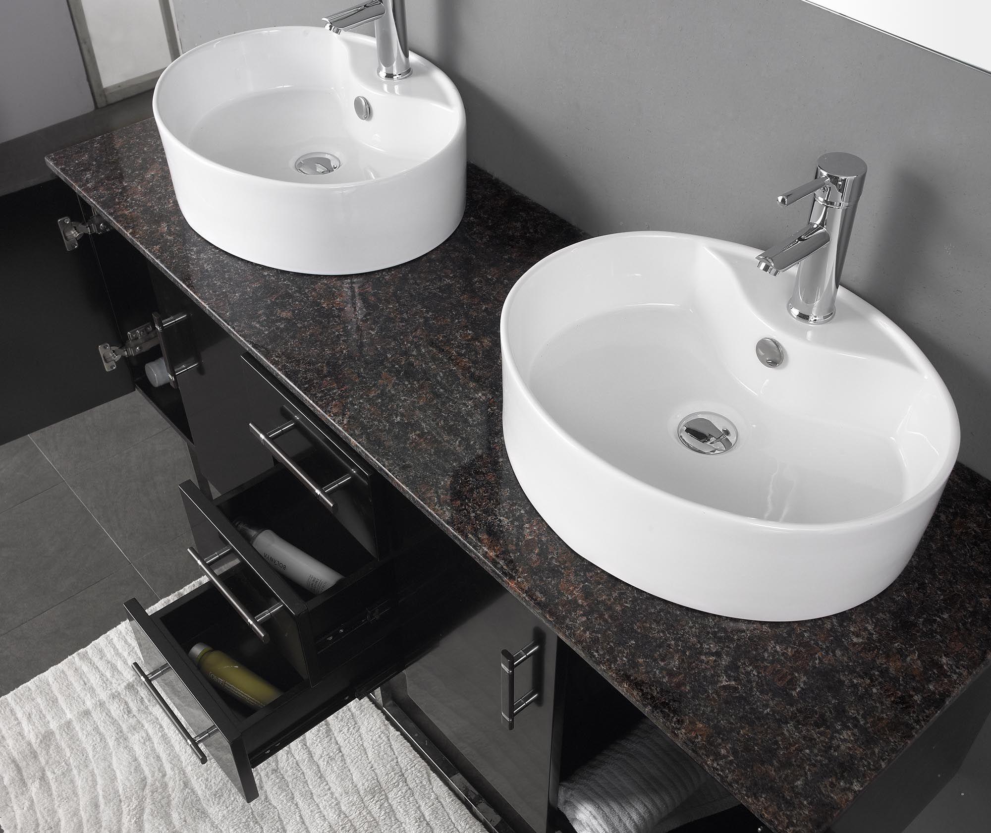 Furniture Bathroom Vanities Modern Bathroom Vanity With Natural Marble Tops  And Double Sinks In White Granite Fabricators .