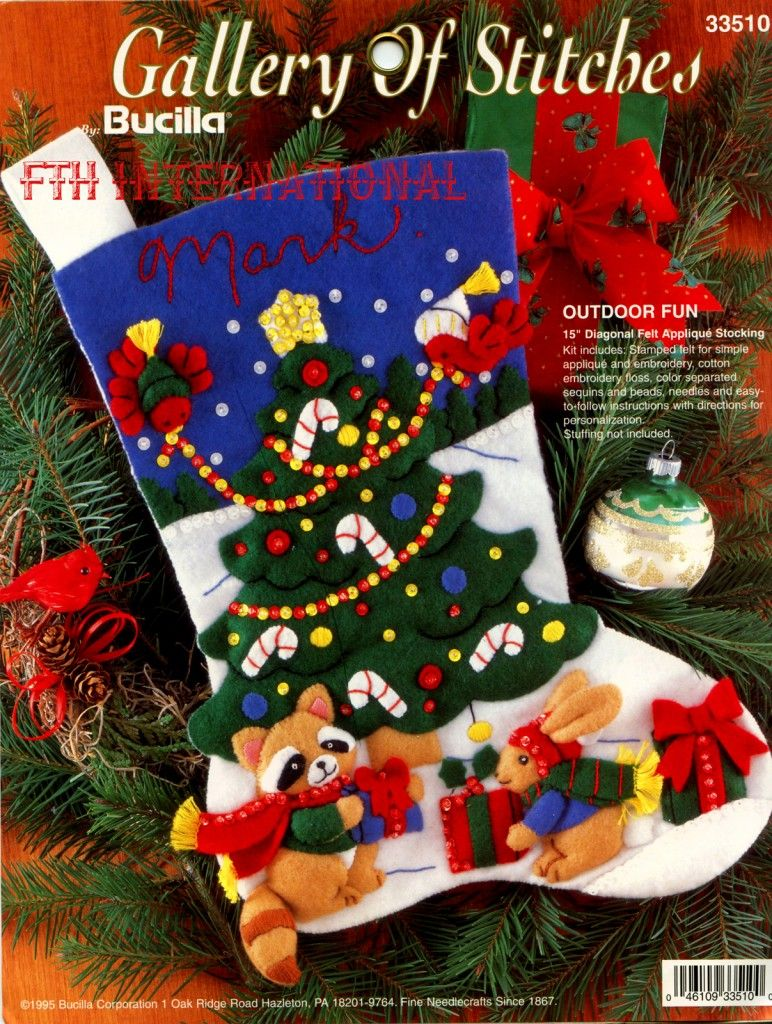 READY TO SHIP Felt Christmas Stocking Snowy Morning can be pesonalized