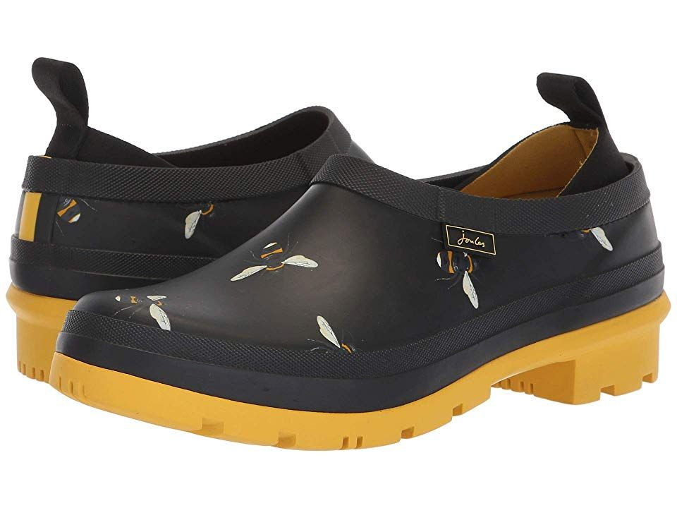 b03ab15ad96a3f Joules Popons (Black Botanical Bees) Women s Slip on Shoes. Finish the look  of the day with the chic Joules Popons shoes. Upper made of rubber.