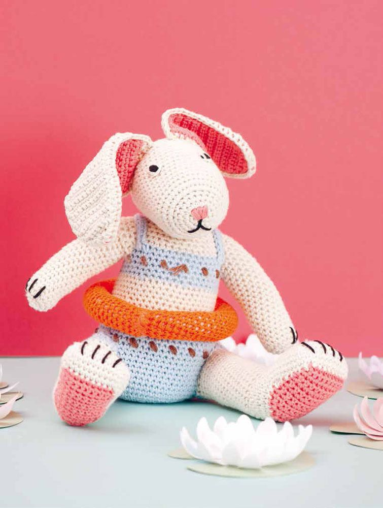 FREE crochet pattern: Lenny The Bunny in Rico Creative Cotton Aran ...