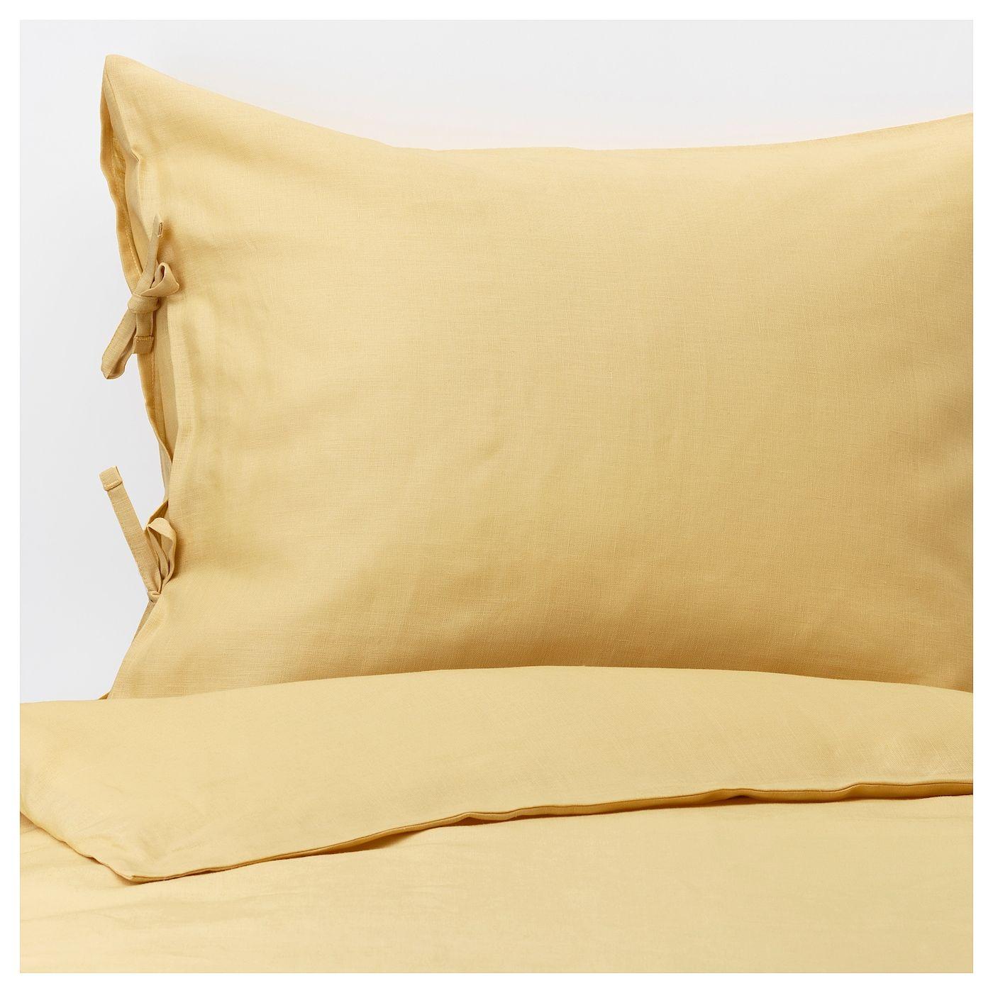 Puderviva Duvet Cover And Pillowcase S Light Yellow King Literie Jaune Draps De Luxe Ensemble Housse De Couette