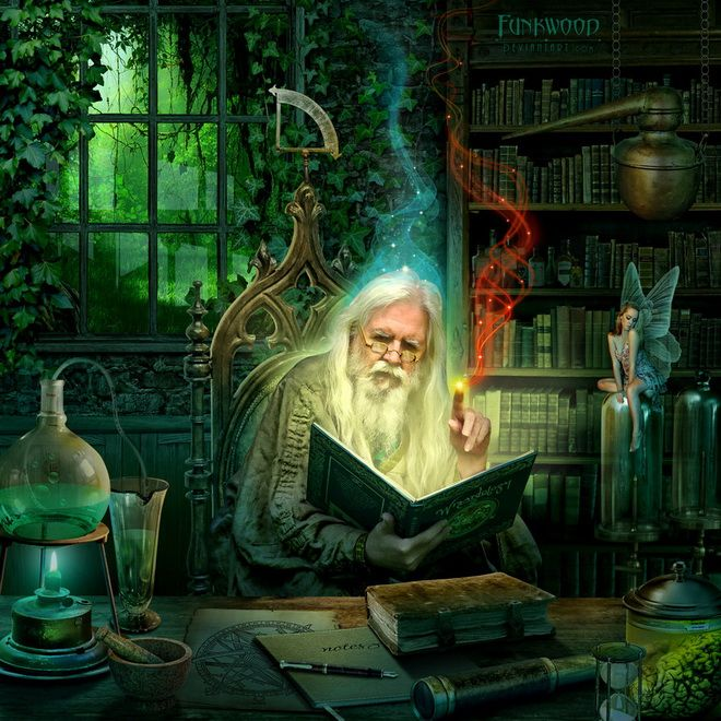 fantasy-art-wizards-den-by-funkwood | Digital Art ...