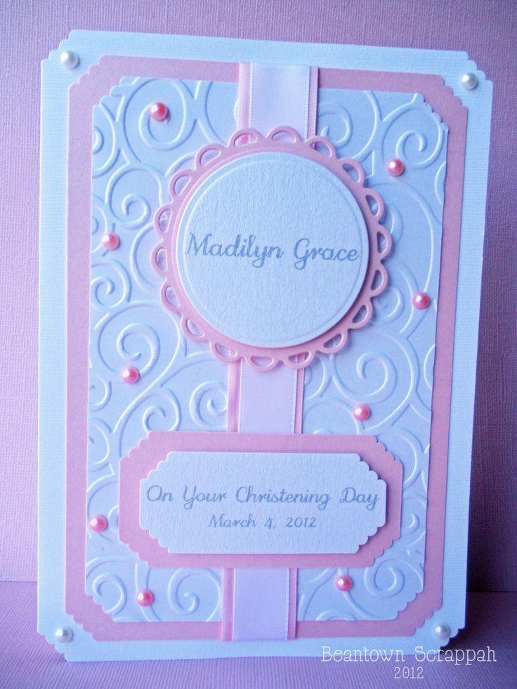 Christening Card Ideas To Make Part - 16: Baptism/Christening Card - Scrapbook.com