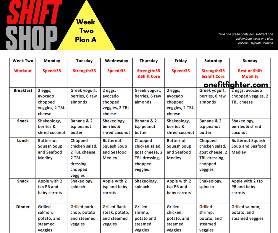 Shift Shop Week  Workout Review  One Fit Fighter Fitness Blog
