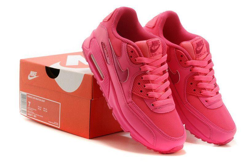 Nike Air Max 90 2007 GS Hyper PinkVivid pink 345017601