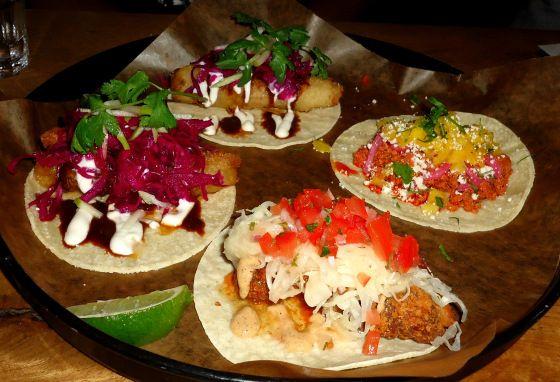 Tacos. Fish, chicken, beef, pork tacos. La Carnita