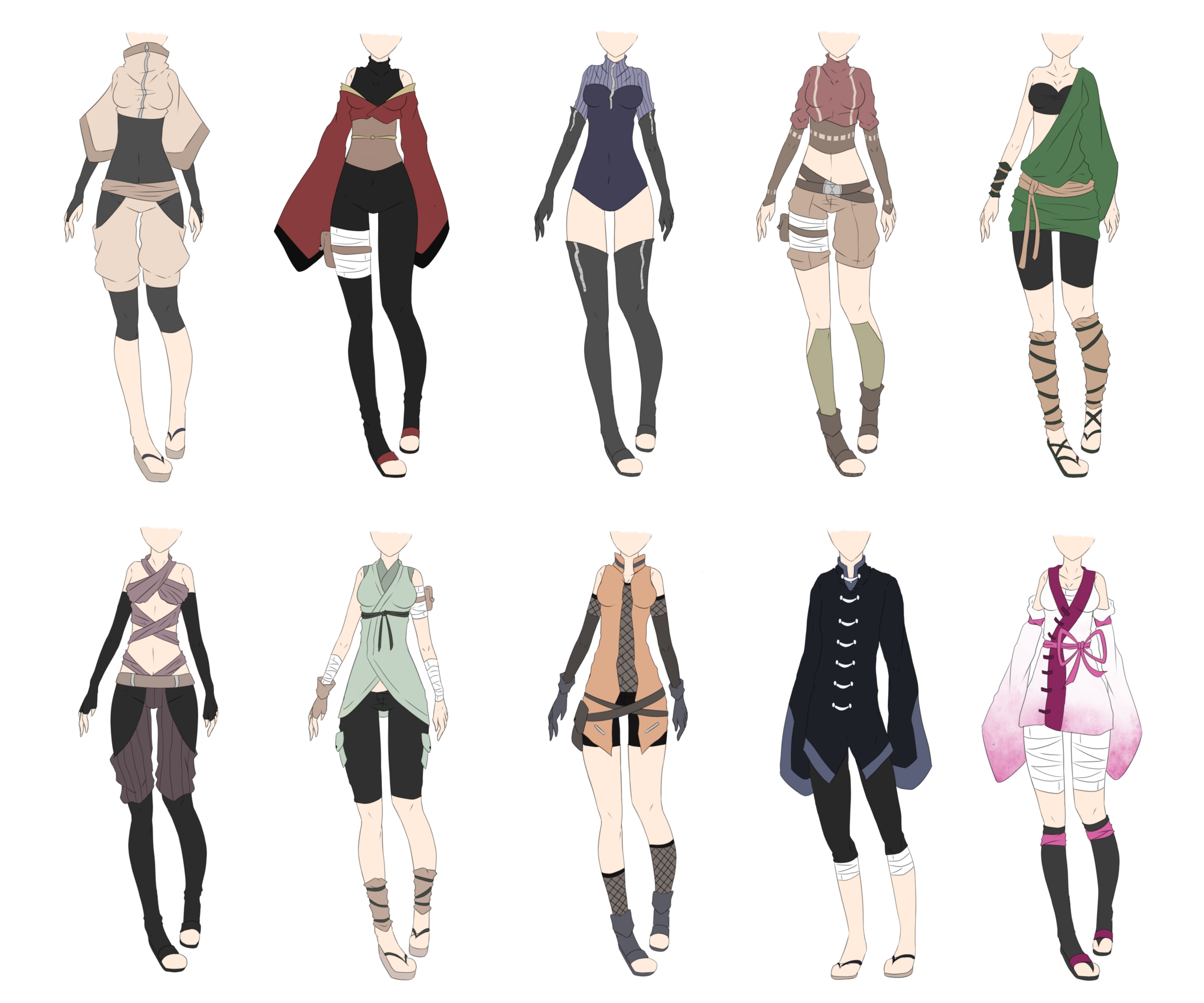 Ninja Outfits Fantasy Clothing Anime Outfits Ninja Outfit