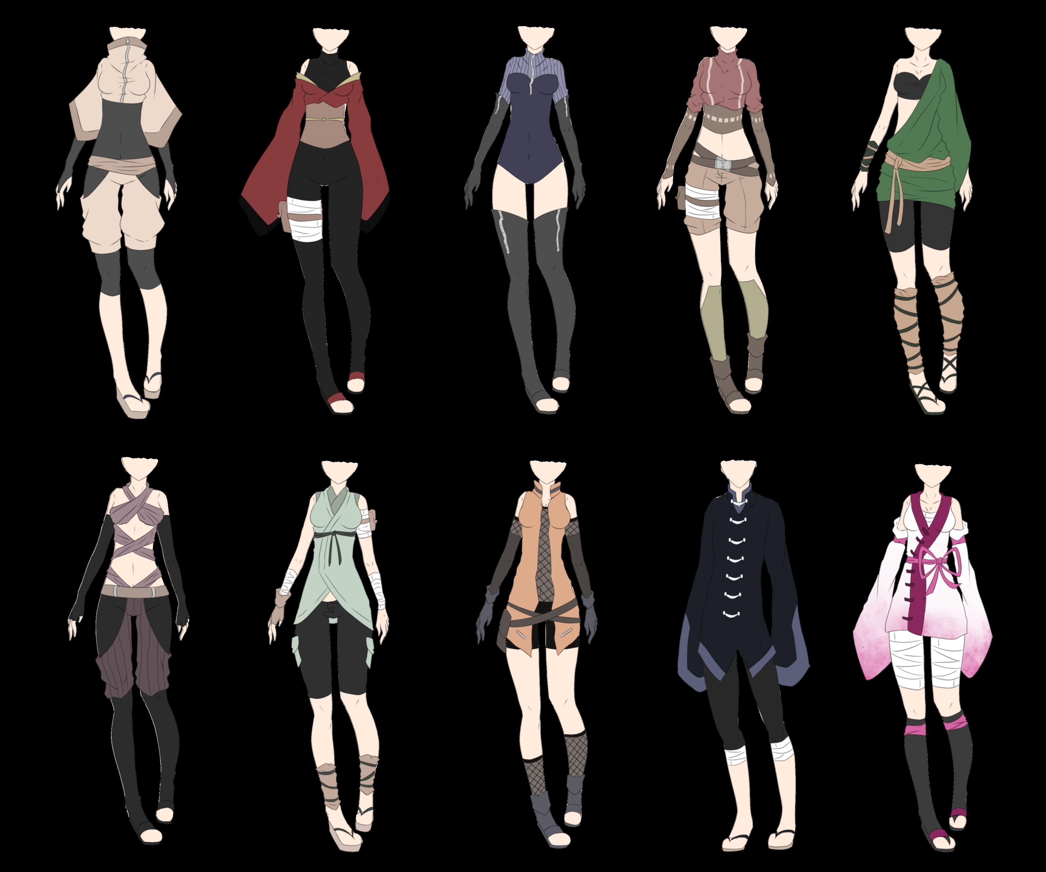 Ninja Outfits Fantasy clothing, Ninja outfit, Anime outfits