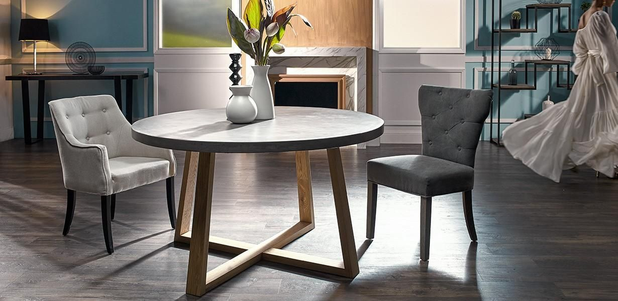 Awesome With Its Unique Reinforced Concrete Top Measuring Diameter With An Oak  Timber Base, The London Is A Dining Table That Will Provide A Clean, Ultra  Modern ...