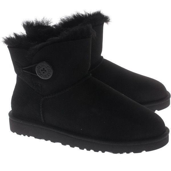 ead93eda306 UGG Mini Bailey Button Black Buttoned shearling boots ($295 ...