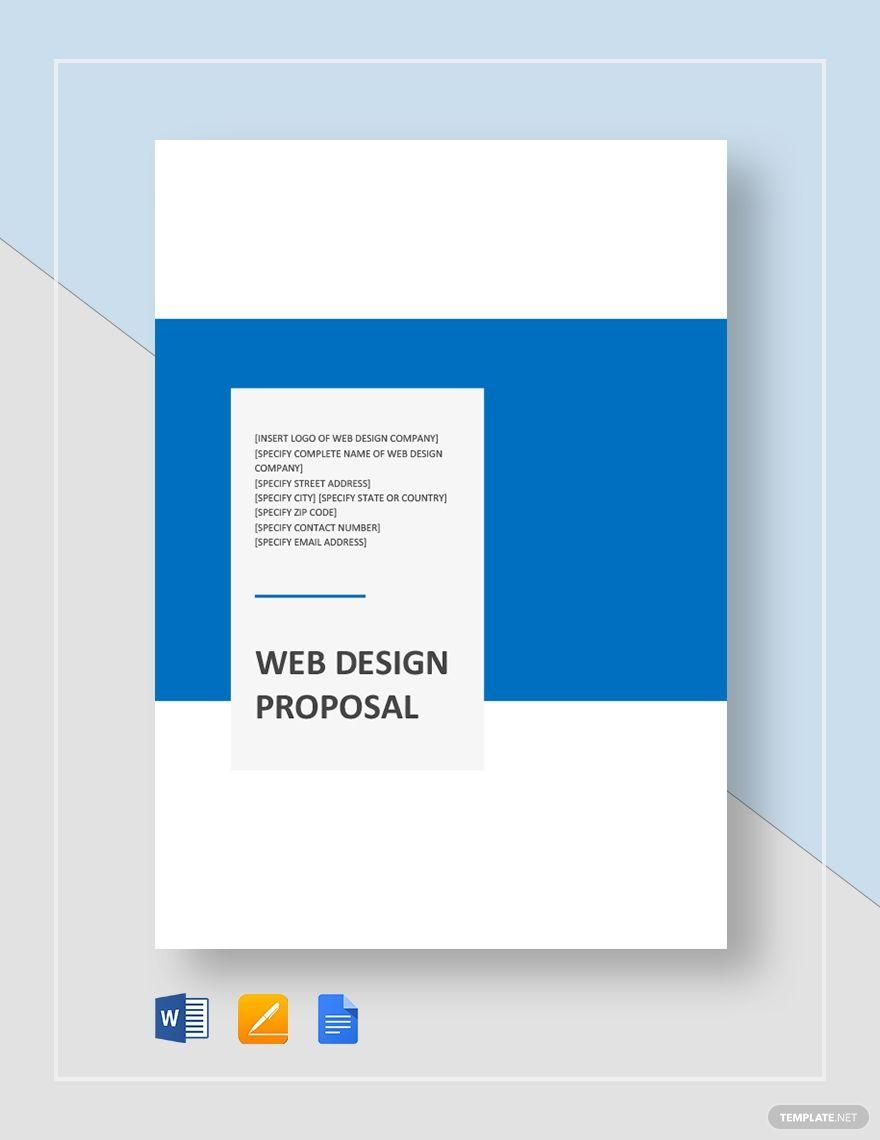 Web Design Proposal Template Web Design Proposal Proposal Templates Web Design