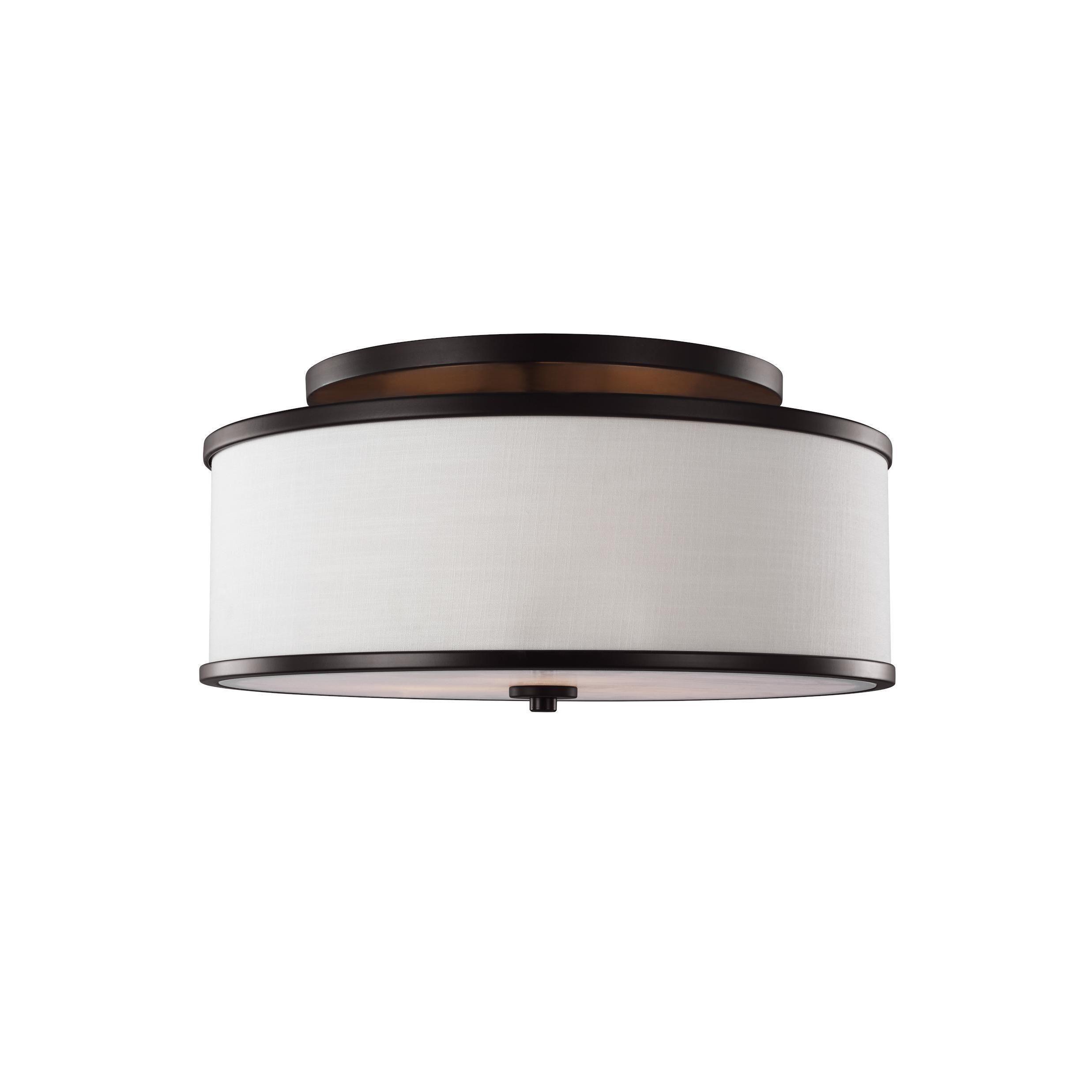 Hallway flush mount lighting  Feiss Lennon  Light Oil Rubbed Bronze SemiFlushmount   Light