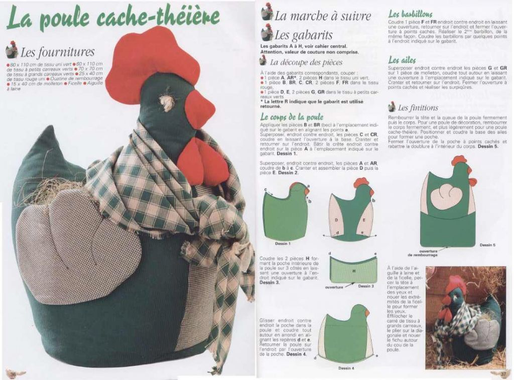 Easter chicken + Pattern (sewing). tea cosy | gallinas | Pinterest ...
