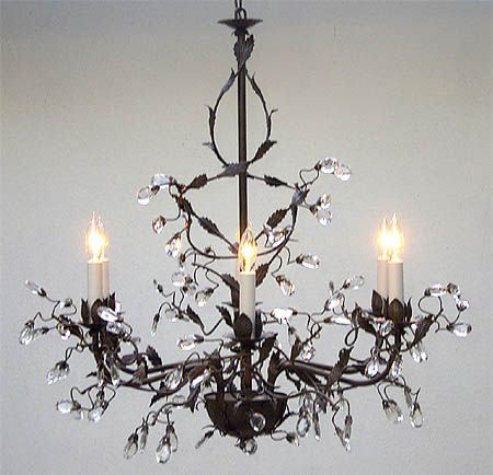 Wrought iron crystal chandelier way cool pinterest wrought wrought iron crystal chandelier aloadofball Gallery