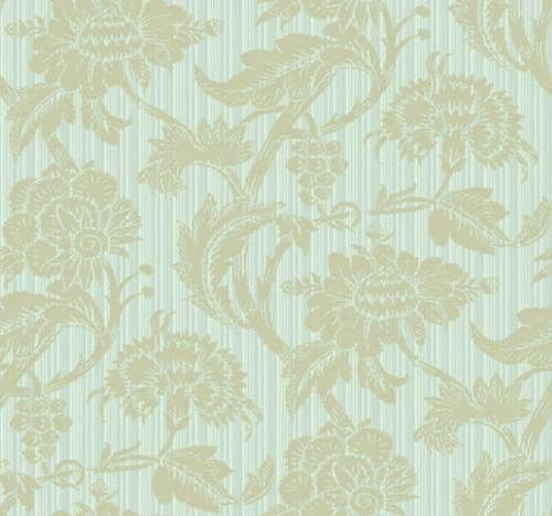 Jacobean On Blue Stria Wallpaper Gn2514 D Marie Interiors With