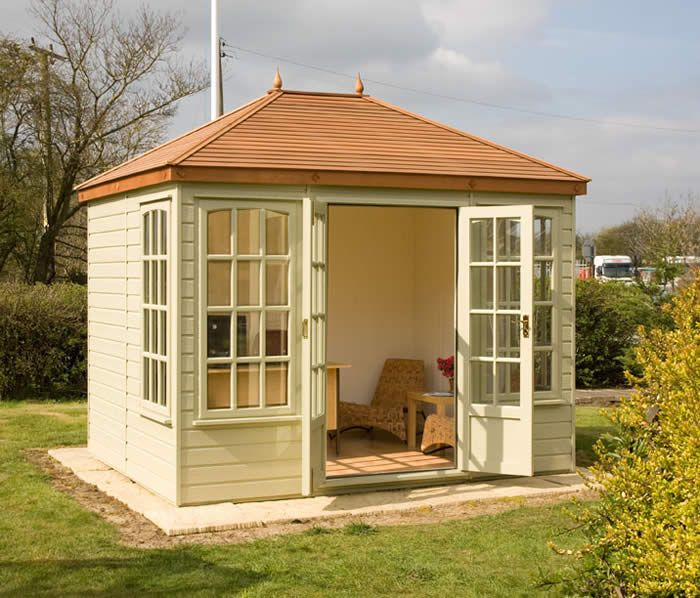 Traditional Summerhouse With Tiled Roof & 3/4 Length