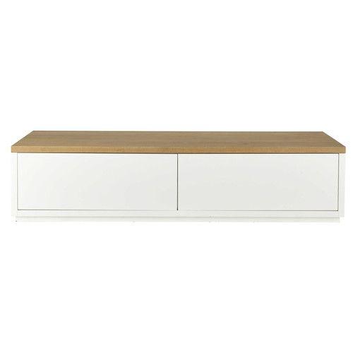 Best 20 meuble tv chene massif ideas on pinterest for Meuble tv angle chene massif