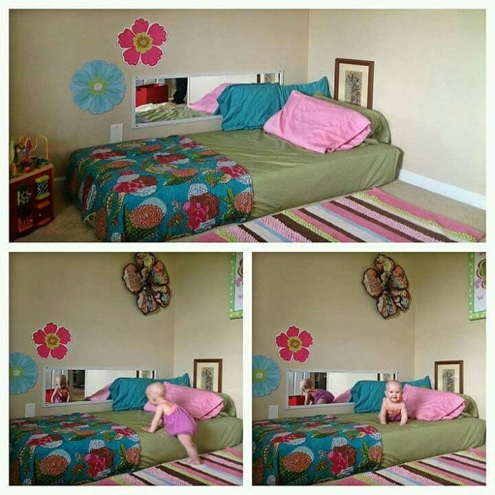 Great Idea For Toddlers Room More Falling Off The Bed Toddler Rooms Girl Bedroom Setup