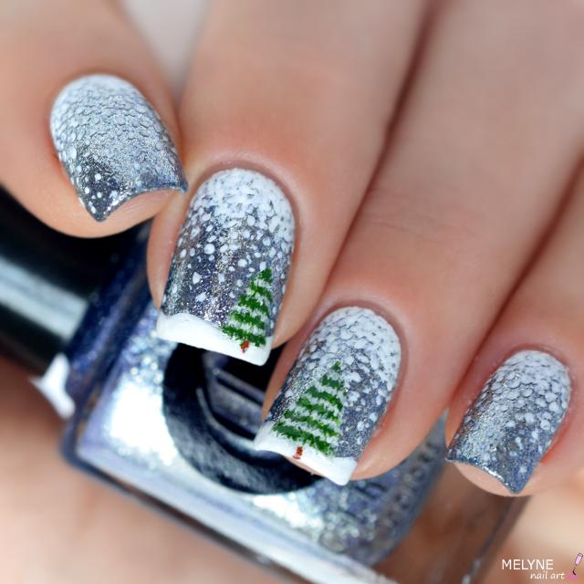 nail-art-hiver-neige-et-sapin-winter-nails