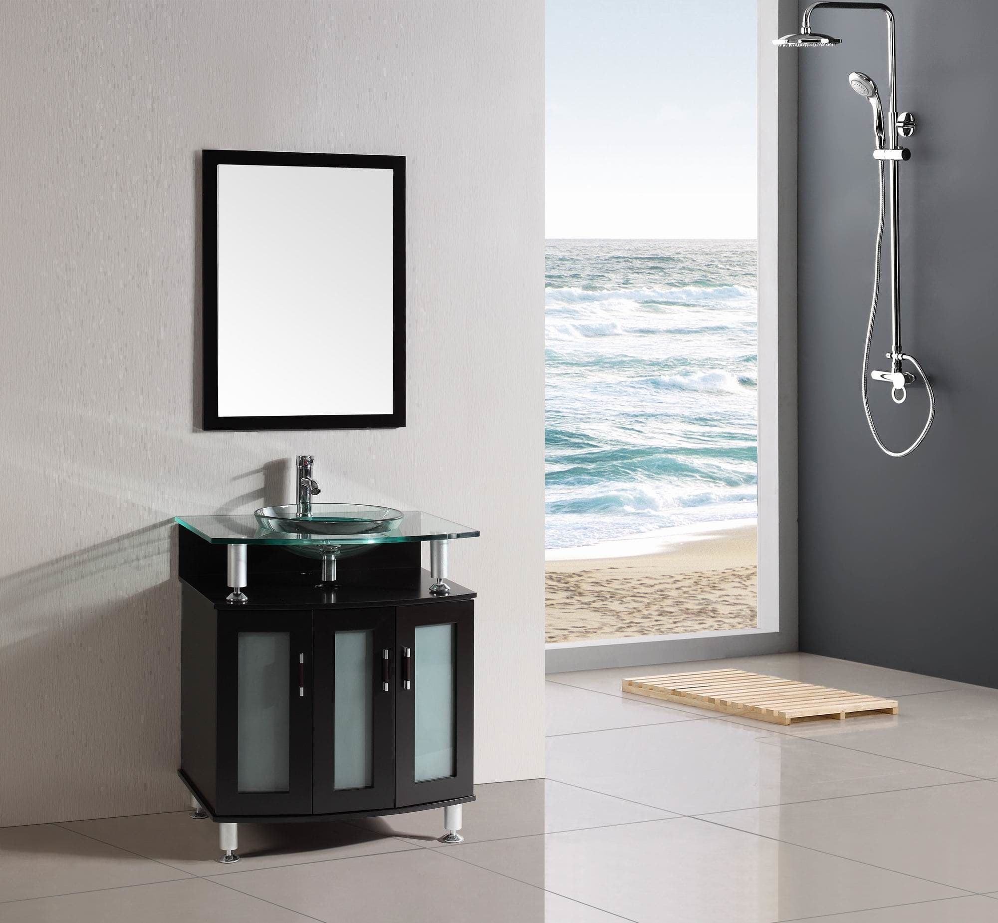 Shop For 30 Inch Belvedere Modern Espresso Bathroom Vanity With Tempered
