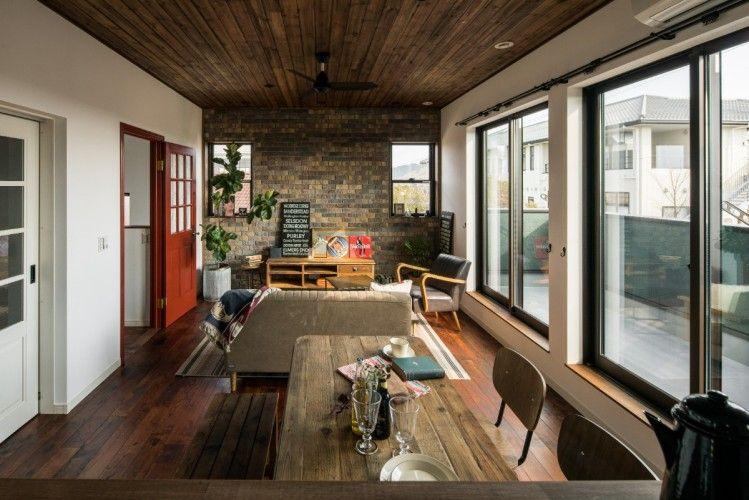 アメリカンヴィンテージな家具が似合う家 家 シンプルな家