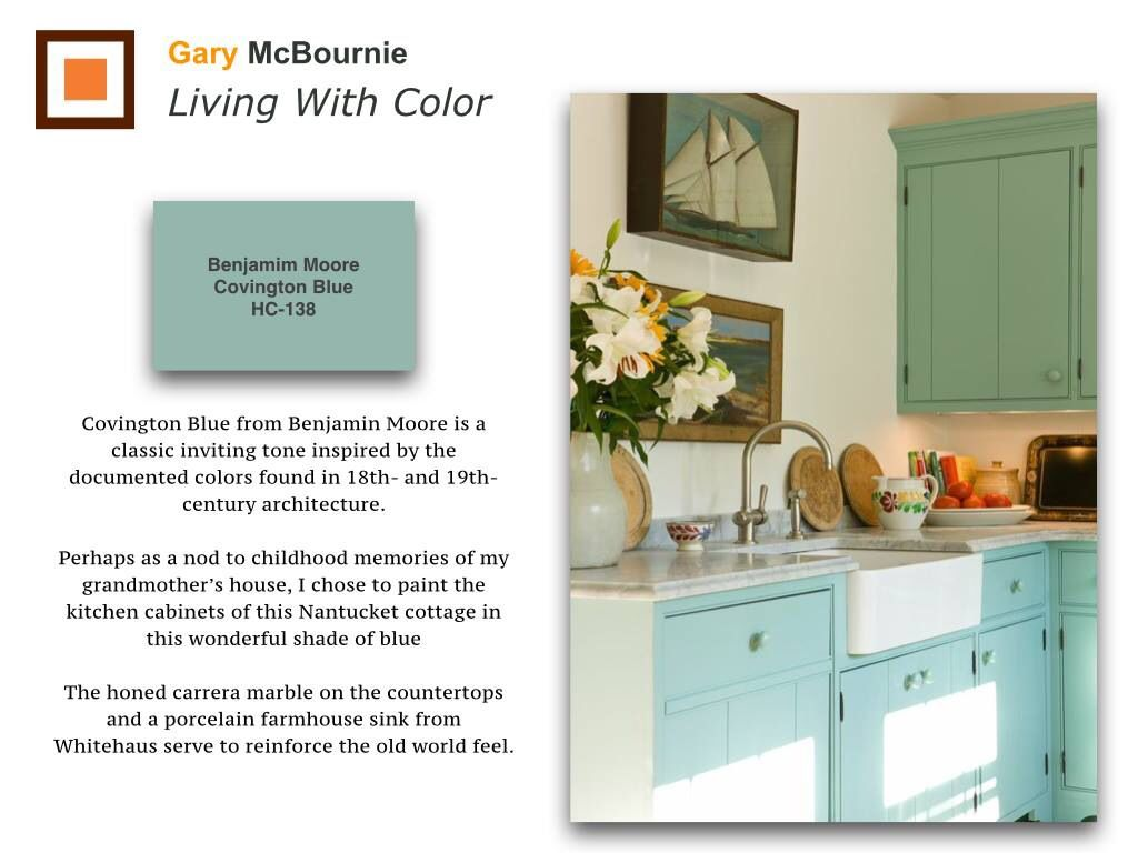 Kitchen Cabinets Painted In Covington Blue From Benjamin Moore Add Old World Charm To A Historic N Painting Kitchen Cabinets Painting Cabinets Kitchen Cabinets