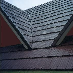 Stamped Steel Roofing The Look Of Wood Without The Decay Woodland Vicwest Steel Roofing Roofing House Roof