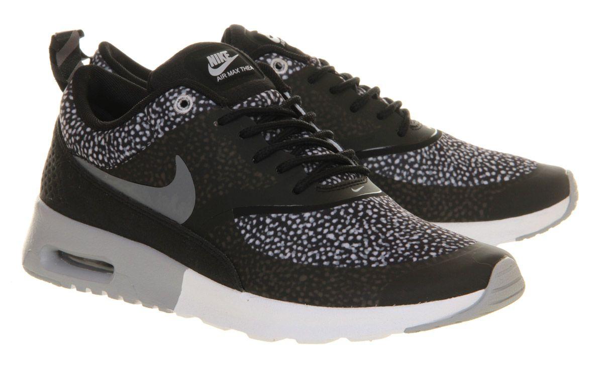 Women Nike Air Max Thea Black Wolf Grey White Hers