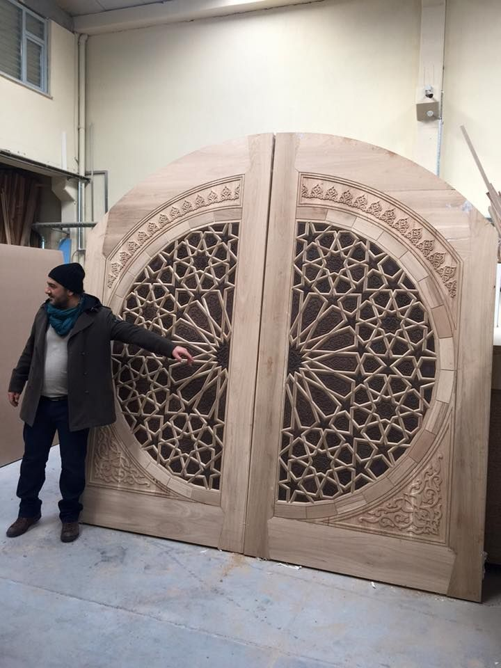 Pin by on islamic art pinterest doors for Door design cnc