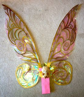 Cellophane Tinkerbell Fairy Wings Tinkerbell Wings Diy Wings Fairy Crafts