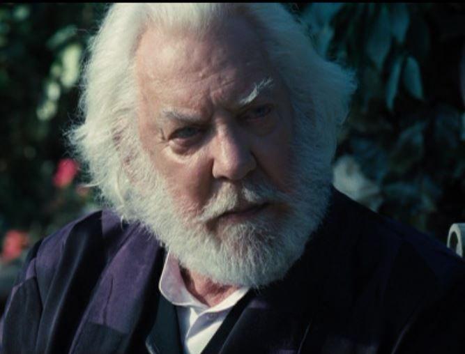 Donald Sutherland as President Snow   Donald sutherland ...